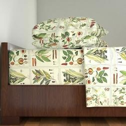 Herb Botanical Spices 24In Herb 100% Cotton Sateen Sheet Set