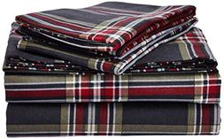 TRIBECA LIVING Heritage Plaid 5 oz Flannel Printed Extra Dee