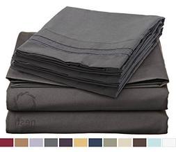 HIGHEST QUALITY Bed Sheet Set, #1 on Amazon, King Size, Char