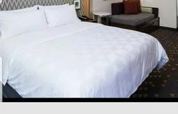 IHG Holiday Inn Duvet Cover Diamond Pattern White KING SIZE