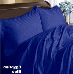 Hotel Bedding Collection Extra Deep Pocket Egyptian Blue Str