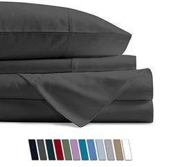Mayfair Linen 100% Egyptian Cotton Sheets, Dark Grey King Sh