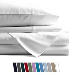 Mayfair Linen 100% Egyptian Cotton Sheets, White California