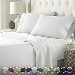 HC COLLECTION Bed Sheets Set, Hotel Luxury Platinum Assorted