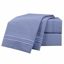 Hotel Luxury Nestl 4 Piece King 1800 Double Micro Sheets Dee
