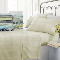 Hotel Luxury Premium 4 Piece Printed Bed Sheet Set - Ultra S