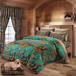 Hunter Camo Comforter, Sheet, & Pillowcase Set