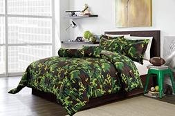 hunter green brown black camouflage