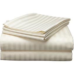 aashirainwear Ivory Stripe RV King Size Ultra Soft 4 PCs Bed