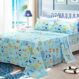 Brandream Kids Boys Bedding Set Fish Bedding Girls Bed Sheet