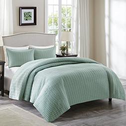 Comfort Spaces - Kienna Quilt Mini Set - 3 Piece - Seafoam -