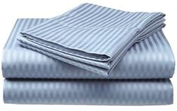 Millenium Linen King Size Bed Sheet Set - Light Blue - 1600