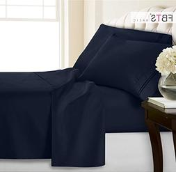 King Bed Sheets(Fitted Flat 4 Piece Sheet Set), 1800 Hotel