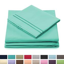 California King Bed Sheets - Pastel Green Luxury Sheet Set -