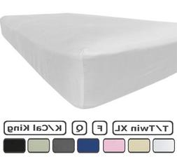 King Size Fitted Sheet Only - 100% Brushed Microfiber - 18 I