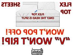 King FLEX TOP & Cal King HUNTER GREEN Adjustable Deep Pocket