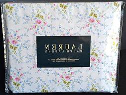 Ralph Lauren 4 Pc KING Floral French Country Sheet Set Ivory
