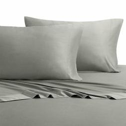 King Gray Silky Soft bed sheets 100% Rayon from Bamboo Sheet
