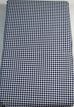 Lauren King Size Houndstooth Check Pillowcases Set of 2 Whit