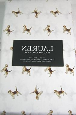 Lauren King Size Pillowcases Set of 2 100% Cotton Beagle Dog