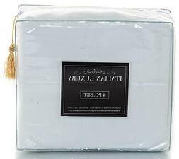 ITALIAN LUXURY KING Satin Sheet Set White