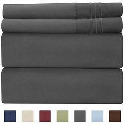 California King Size Sheet Set - 4 Piece - Hotel Luxury Bed