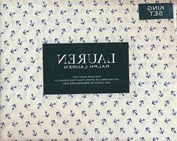 Lauren Ralph Lauren King Size 4-piece Sheet Set 100% Cotton