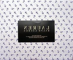 Lauren Ralph Lauren 4 Piece King Sheet Set Cotton Navy Blue