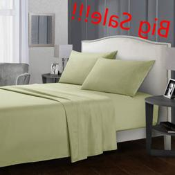 King Sheet Set Deep Pocket Egyptian Comfort Sheets Count Bed