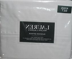 Ralph Lauren 4pcs KING Sheet Set Dunham Sateen--- Silver