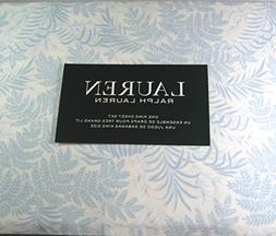 Lauren 4 Piece King Size Sheet Set Fern Leaves/Light Blue 10