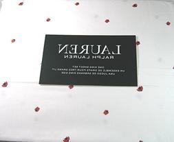 Lauren 4 Piece King Size Sheet Set Lady Bugs/White 100% Cott