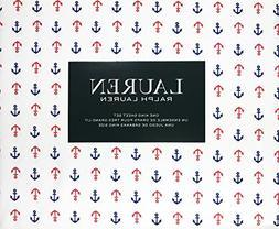 Lauren Ralph Lauren 4 Piece King Sheet Set Navy Blue and Red
