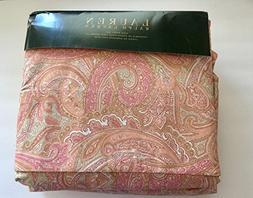 Lauren Ralph Lauren 4pc KING Sheet Set - Pink Peach Tan Beig