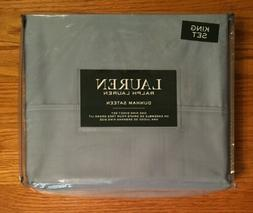 Lauren Ralph Lauren 4pc KING Sheet Set Mist Solid Blue Gray