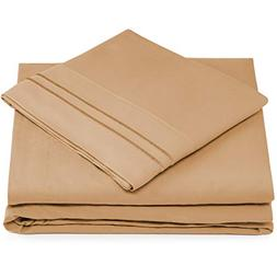 King Size Bed Sheets - Taupe Luxury Sheet Set - Deep Pocket