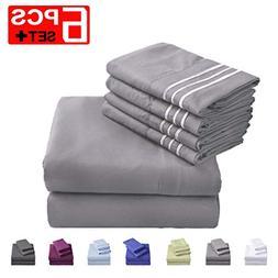 Emonia King Sheets Set - 6 Pieces Bed Sheets-Microfiber Supe