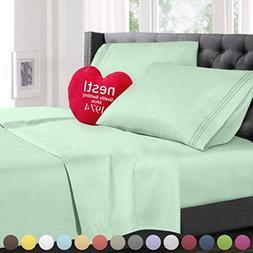King Size Bed Sheets Set Mint, Highest Quality Bedding Sheet