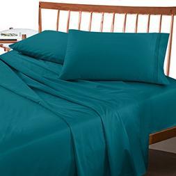 Premium King size Sheets Set - Teal Turquoise Hotel Luxury 4