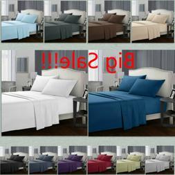 King Size Deep Pocket Comfort 1800 Count 4 Piece Bed Sheet S