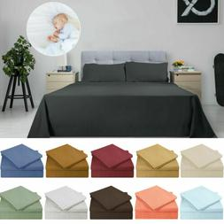 King Size Soft Sheets Comfort Count 3/4 Piece Deep Pocket Be