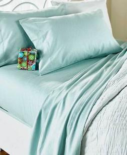 The Lakeside Collection King Solid-Colored Flannel Sheet Set