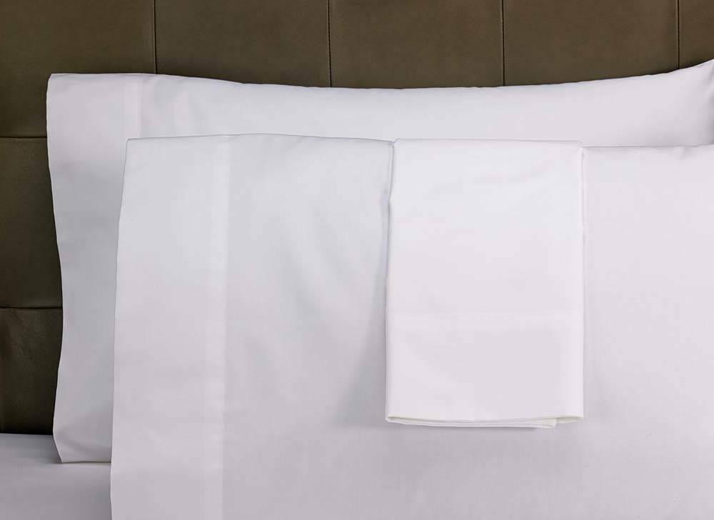 1 pillowcase bright white heavy weight brushed microfiber ki