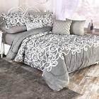 10 Pc Complete Bedding Sets elegant solid sheets lucera king