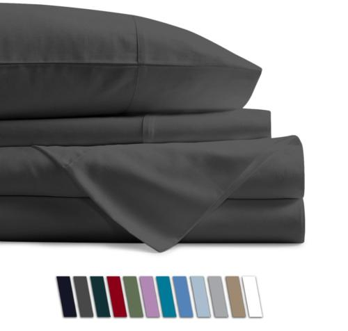 100 percent egyptian cotton sheets dark grey