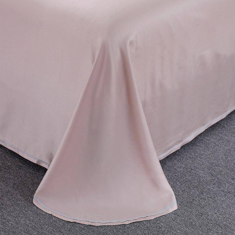 100% Tencel Lyocell Princess Piece Bedding Sets <font><b>800</b></font> Pale Mauve Wedding Queen Bed Set