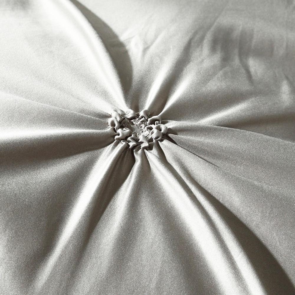 100% Pinch Set Luxury White Grey Sets Queen <font><b>SHEET</b></font>