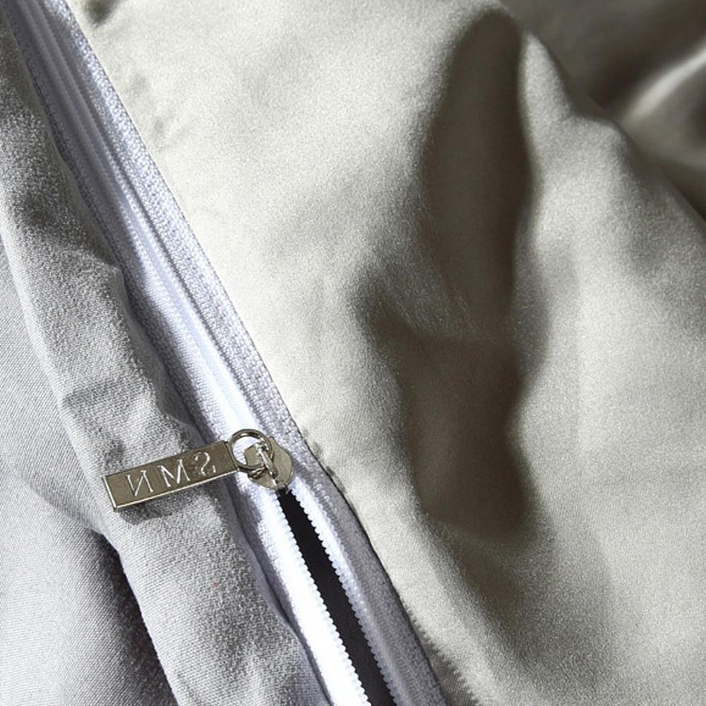 100% 2/3pcs/set Pinch Duvet Cover Set White Grey Bedding Sets Queen <font><b>SHEET</b></font>