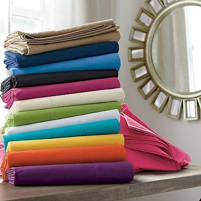 1000 TC 2 PC Pillow Cases/Shams Solid Color 100%Egyptian Cot