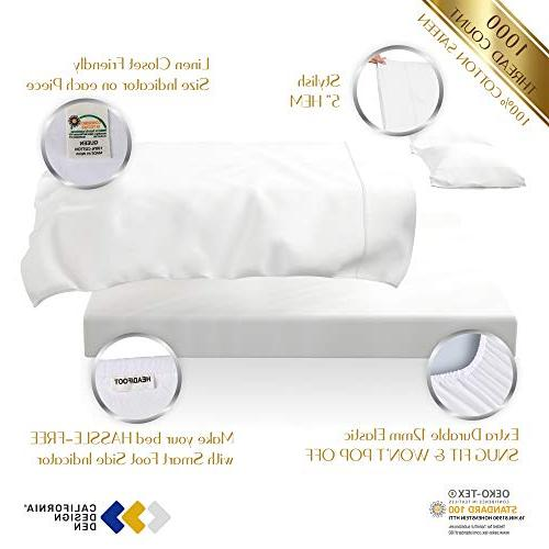 1000 Pure on Amazon, Size Single Ply Combed Cotton Luxury Sateen Mattress Upto Deep Pocket